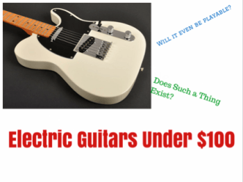 electric guitars under 100